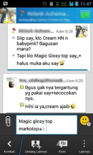harga magic glossy cream murah